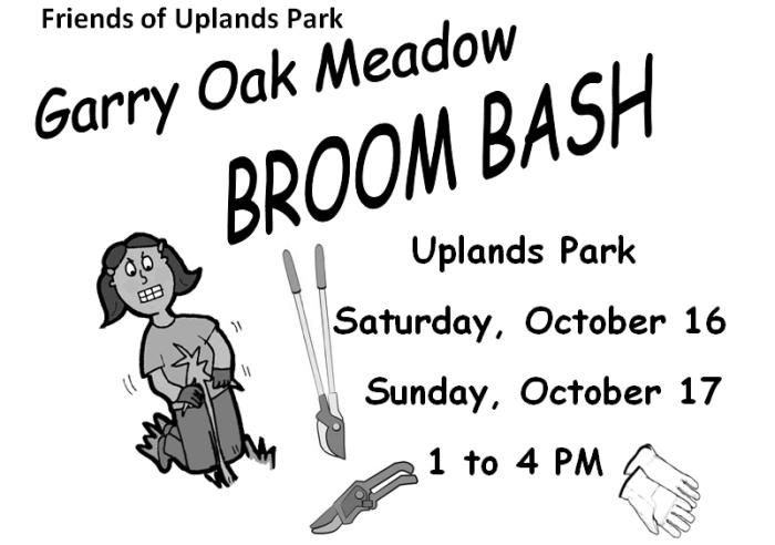 Friends of Uplands Broom Bash Poster
