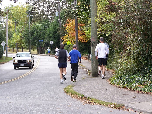 Challenges for pedestrians on Foul Bay Road