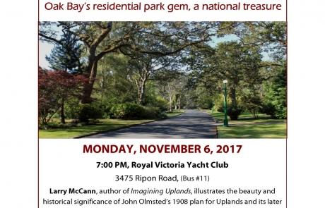 Oak Bay talks Historic Uplands Nov 2017 (2)