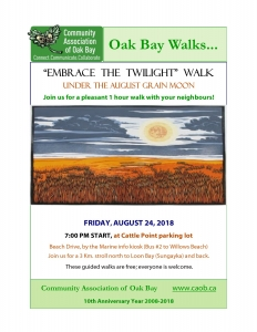 Embrace the Twilight Walk - Friday, Aug 24 @ Cattle Point by the Marine Life Info Kiosk