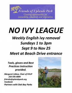 "Friends of Uplands Park - ""No Ivy League"" @ Uplands Park, Oak Bay"